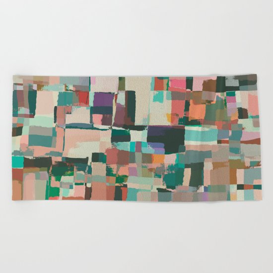 Abstract Painting No. 8 Beach Towel
