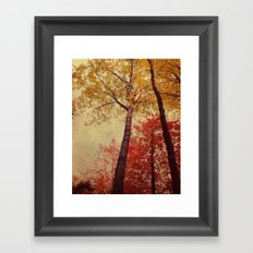 Autumn Couple Framed Art Print