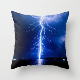 Balmoral Beach Lightning Strike Throw Pillow