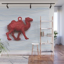 Genetically challenged camel trying to cross the blue mirage Wall Mural