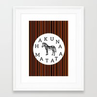 hakuna Framed Art Prints featuring Hakuna Matata  by Shelby Thompson
