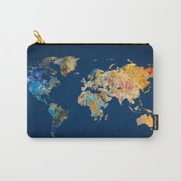 World Map 11 Carry-All Pouch