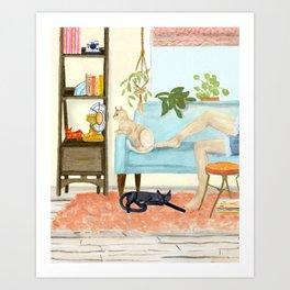 Cat Days of Summer Art Print
