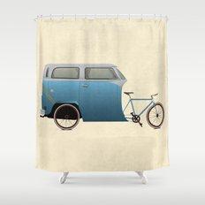 Camper Bike Shower Curtain