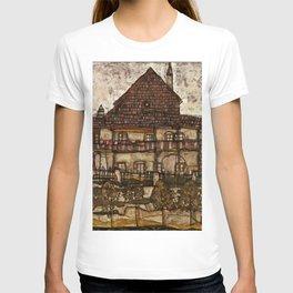 """Egon Schiele """"House with Shingle Roof (Old House II)"""" T-shirt"""