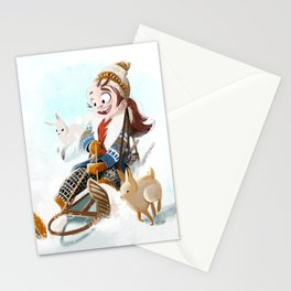 Sledding Stationery Cards