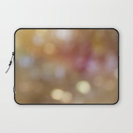 Soft Golden Bokeh Laptop Sleeve