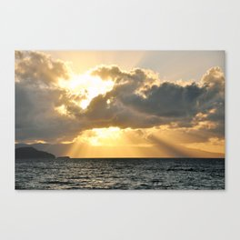 ...And There Was Light Canvas Print