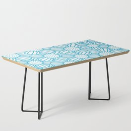 Field of daisies - teal Coffee Table