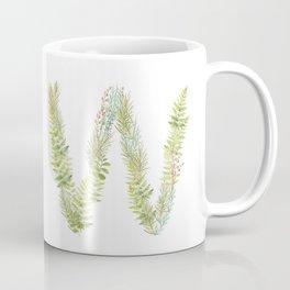 Initial W Coffee Mug