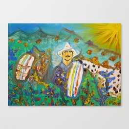 Juan Valdez & Conchita Canvas Print