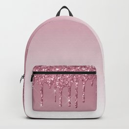 Pink Dripping Glitter Backpack
