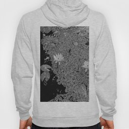 Black and White Lily Pond Hoody