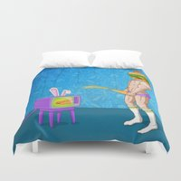 junk food Duvet Covers featuring FOOD PORN by GWA Art Design