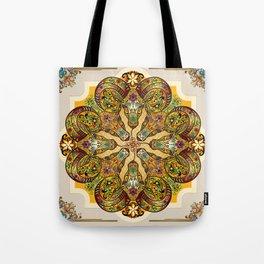 Mandala Sacred Rams - Bright Version Tote Bag