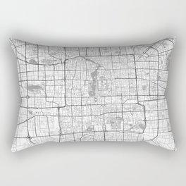 Beijing Map Line Rectangular Pillow