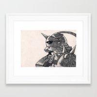 full metal alchemist Framed Art Prints featuring Alphonse Elric, Full Metal Alchemist  by Narmeenio