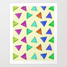 Colorful vintage interior design and textile design pattern on canvas Art Print