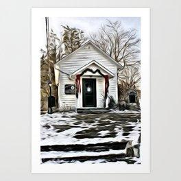 Town Post Office Art Print