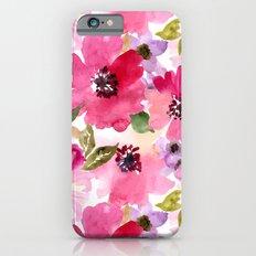 Watercolor Flowers iPhone 6 Slim Case