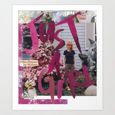 Just a Girl Art Print