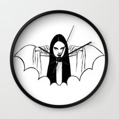 Mark of the Vampire Luna Wall Clock