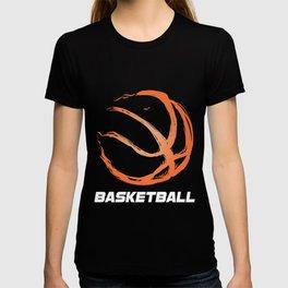 Basketball Coach Players Dribbling Ring Court Fireball Basketball Gift T-shirt