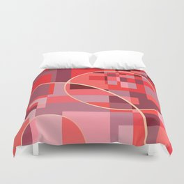 Abstract overlapping art Duvet Cover