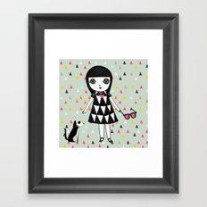She loves her eames.  Framed Art Print