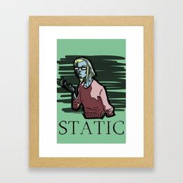 STATIC Framed Art Print