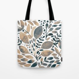 Watercolor branches and leaves - neutral Tote Bag