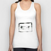 tape Tank Tops featuring TAPE by Michela Buttignol