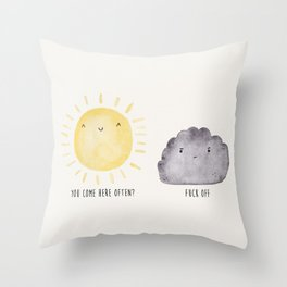 The Sun and the Rain-cloud (Watercolour) Throw Pillow