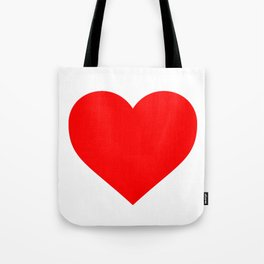 Heart (Red & White) Tote Bag