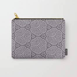 Grey Lace Coin Vintage Inspired Design Carry-All Pouch