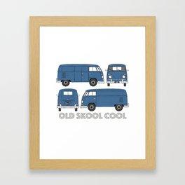old skool cool – vintage commercial panel van in Dove Blue Framed Art Print