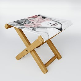 WOMAN WITH FLOWERS 10 Folding Stool