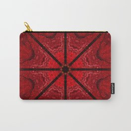 Red and Black Star Mandala Carry-All Pouch