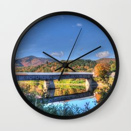Cornish-windsor Covered Bridge Wall Clock