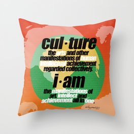 CULTURALLY SPEAKING Throw Pillow