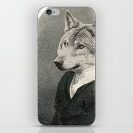 Lithography wolf iPhone Skin