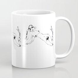 Girl with flower 1 Coffee Mug