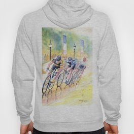 Colorful Bike Race Art Hoody