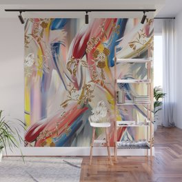 soft colorful pattern Wall Mural