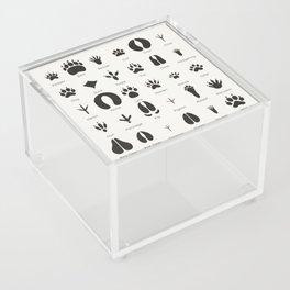 Common Animal Tracks Acrylic Box