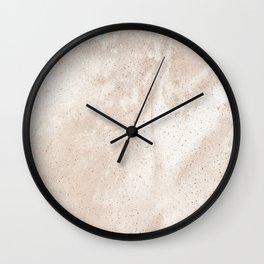 White concrete wall decor minimal interior design Wall Clock