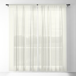 Small Vertical Pastel Lemon Yellow Princess Elizabeth Regal Stripe Sheer Curtain