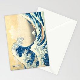 Japanese Woodblock Print The Great Wave of Kanagawa by Katsushika Hokusai Stationery Cards