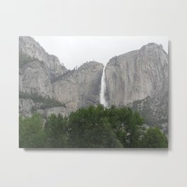 Yosemite Valley Waterfall 2 Metal Print