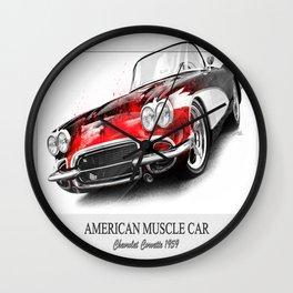 Corvette 1959 Wall Clock
